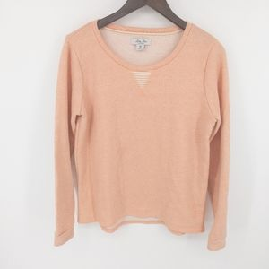 Lucky Lotus Brand Peach Long Sleeve Sweatshirt M